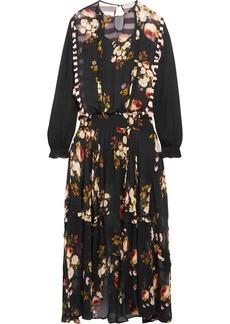 Preen Zadie ruffled paneled floral-print chiffon maxi dress