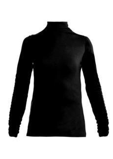 Preen Line Zahara high-neck ruffled jersey top