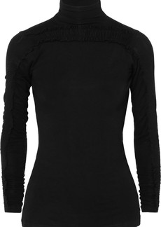Preen Zahara Ruched Stretch-jersey Turtleneck Top