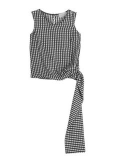 Preen Printed Silk Shell with Tie