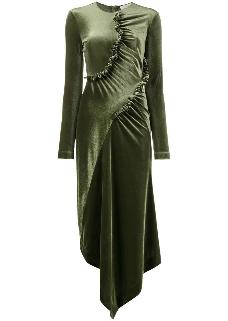 56974ffedc Preen ruched asymmetrical dress