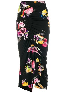 Preen ruched floral skirt