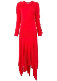 Preen ruffle detail sweater dress