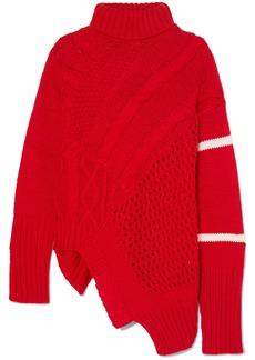 Preen Serenity Asymmetric Paneled Knitted Turtleneck Sweater
