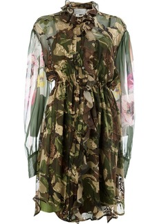 Preen sheer camouflage shirt dress