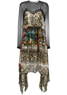 Preen snake print sheer dress