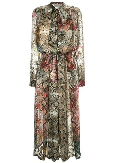 Preen snakeskin print midi dress