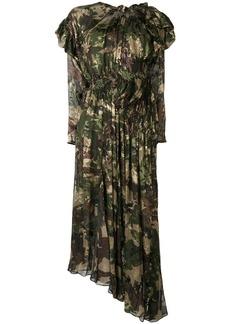 Preen Stephanie camouflage flared dress