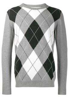 Pringle argyle fine knit sweater