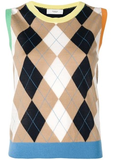Pringle argyle knit sleeveless sweater