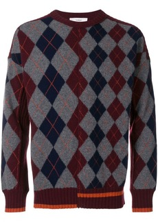 Pringle Argyle long-sleeve sweater