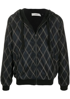 Pringle Argyle zipped drawstring hoodie