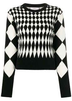 Pringle diamond intarsia jumper