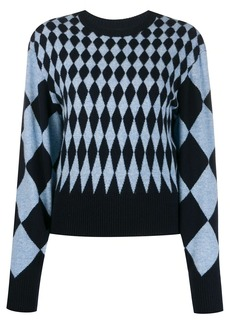 Pringle diamond-intarsia sweater
