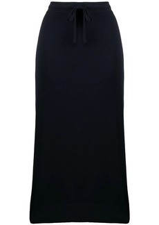 Pringle drawstring midi skirt