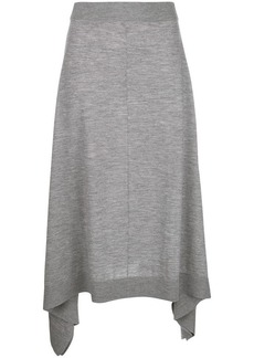 Pringle flared knitted midi skirt