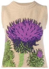 Pringle floral knit tank top