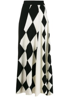 Pringle graphic argyle panel skirt