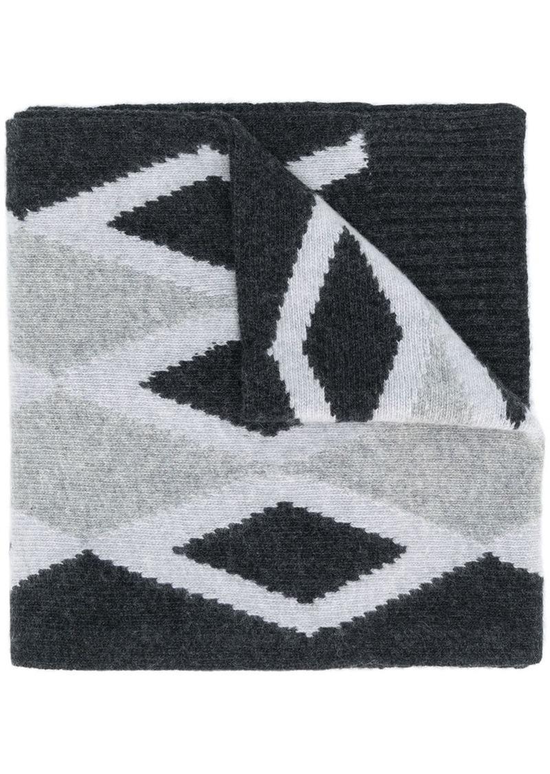 Pringle intarsia-knit scarf