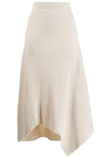 Pringle knitted asymmetric skirt