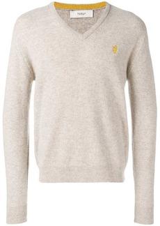 Pringle melange V-neck sweater