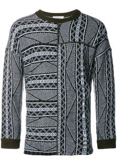 Pringle patchwork Fair Isle sweater