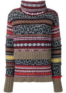 Pringle patchwork jumper
