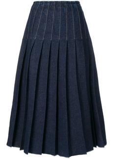 Pringle pleated denim skirt