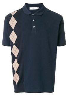 Pringle Of Scotland argyle insert polo shirt - Blue