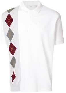 Pringle Of Scotland argyle insert polo shirt - White
