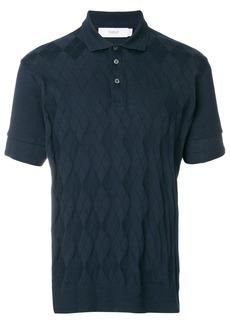 Pringle Of Scotland argyle pattern polo shirt - Blue