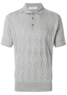 Pringle Of Scotland argyle pattern polo shirt - Grey