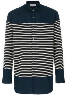 Pringle Of Scotland jersey stripe shirt - Blue