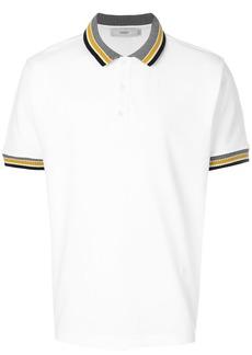 Pringle Of Scotland knited trim polo shirt - White
