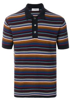 Pringle Of Scotland knitted stripe polo shirt - Multicolour