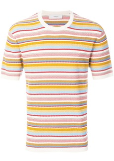 Pringle Of Scotland knitted stripe T-shirt - Multicolour