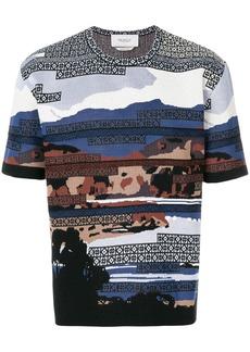 Pringle Of Scotland Postcard Landscape T-shirt - Multicolour