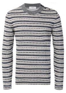Pringle Of Scotland Sanquhar stripe jumper - Blue