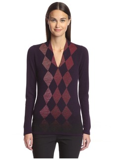 Pringle of Scotland Women's Argyle Sweater  M