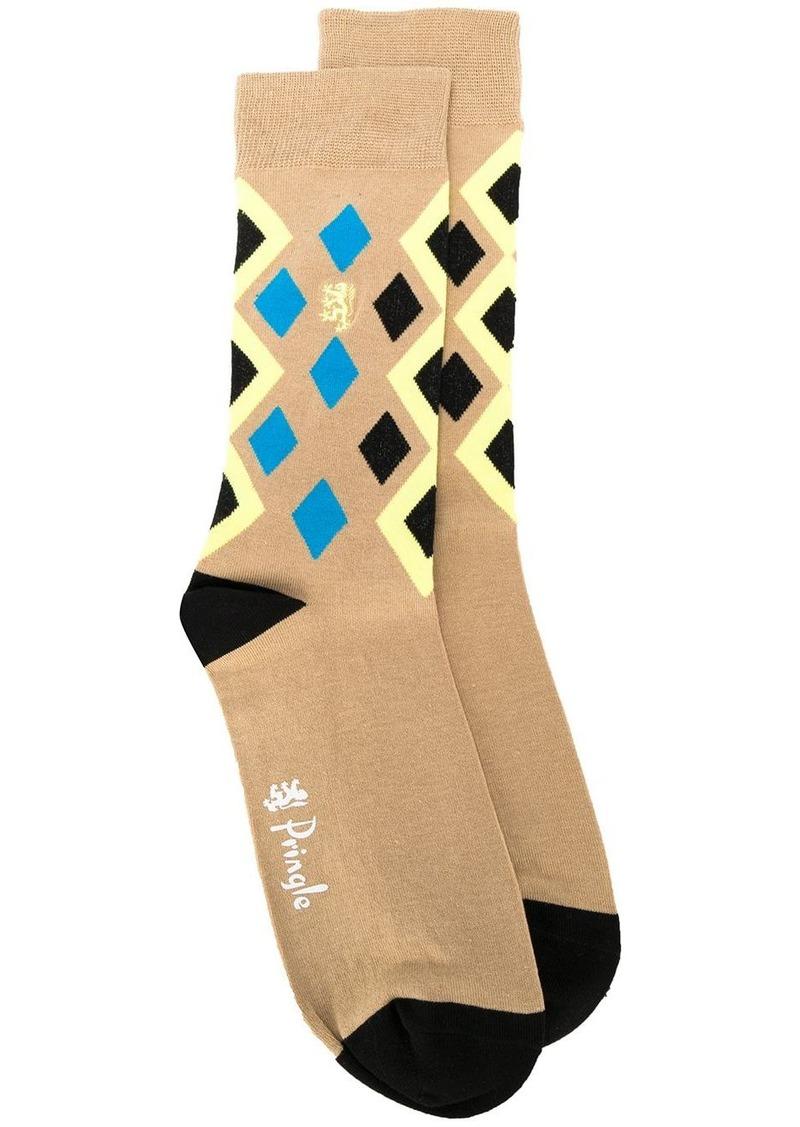 Pringle Reissued Diamond Argyle socks