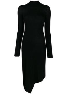 Pringle roll-neck asymmetric dress