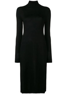 Pringle roll neck fitted dress