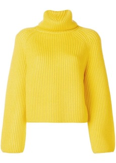 Pringle roll neck ribbed sweater