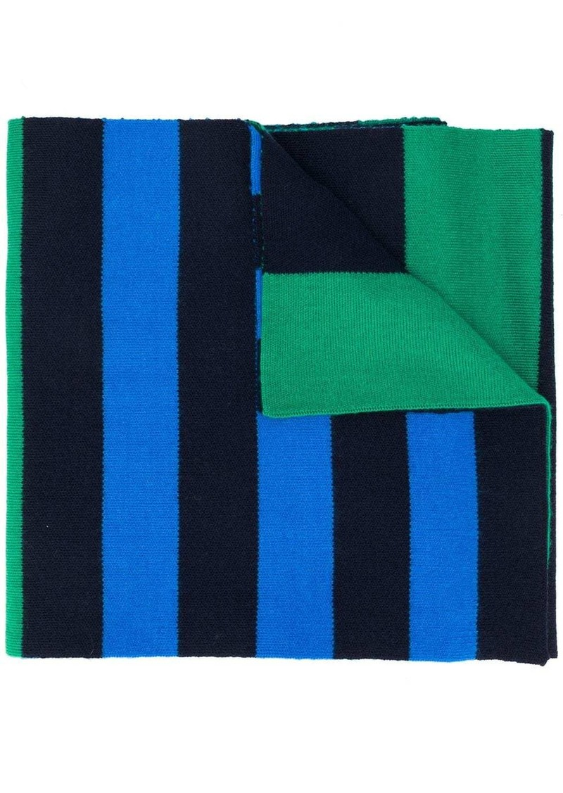 Pringle Rugby-striped merino wool scarf