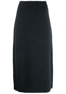 Pringle side slit knitted skirt