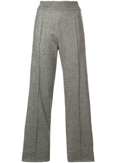 Pringle straight-leg knitted trousers