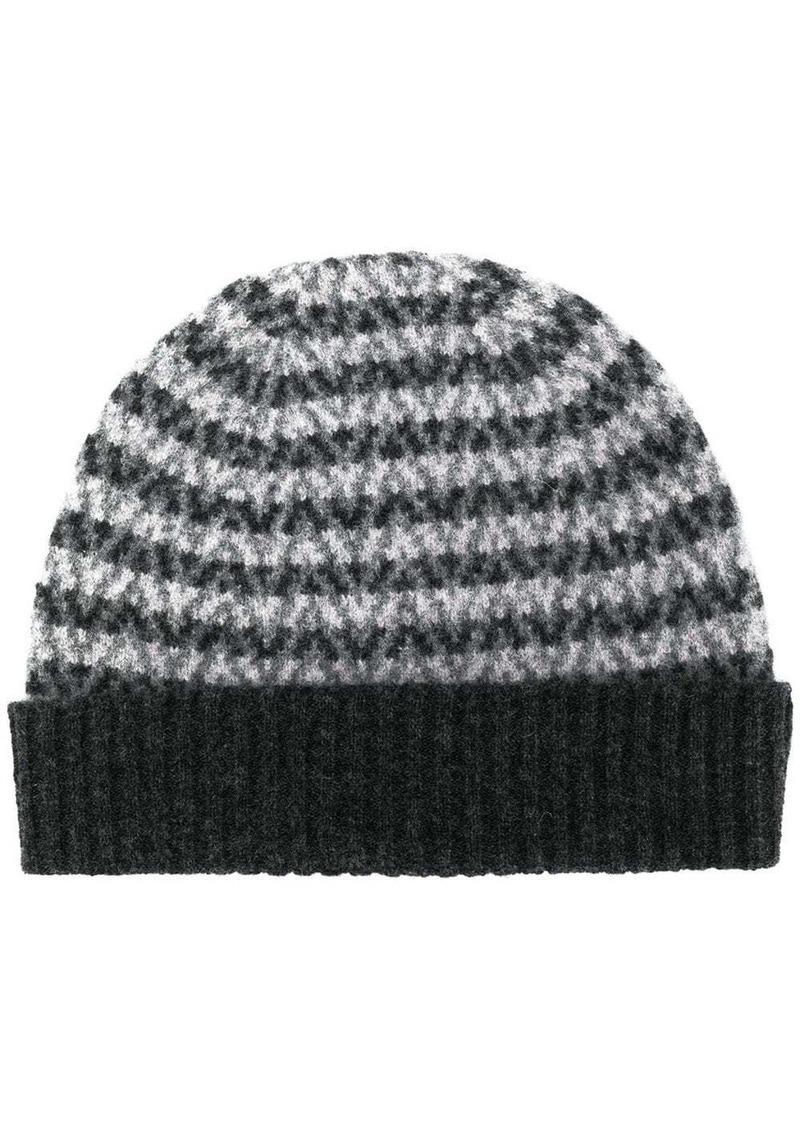 Pringle stripe patterned hat