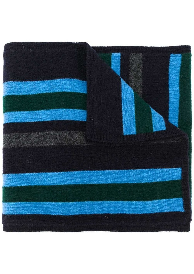 Pringle striped knitted scarf
