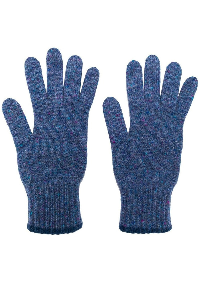 Pringle textured cashmere gloves