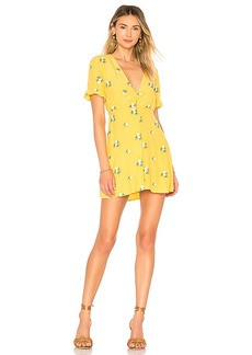 Privacy Please Daffodil Embroidered Mini Dress